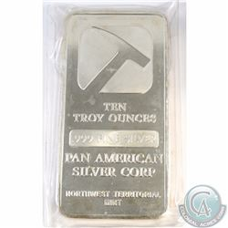 Sealed Pan American 10 oz Fine Silver Bar (Tax Exempt)