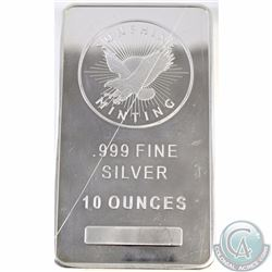 Sunshine 10 oz Fine Silver Bar with Security Features (Tax Exempt)