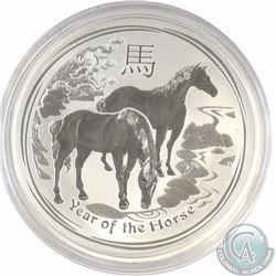 2014 1oz Fine Silver Australian Lunar Year of the Horse (Tax Exempt)