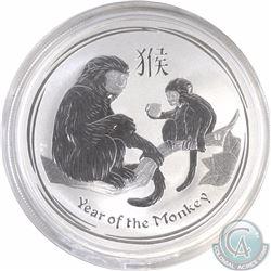 2016 Australia 1 oz .999 Fine Silver Lunar Year of the Monkey (TAX Exempt)