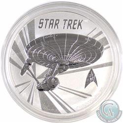 2016 Tuvalu $1 Star Trek U.S.S. Enterprise .999 Fine Silver (Tax Exempt)