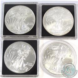 2010, 2012, 2013, 2016 United States 1oz Fine Silver Eagles (Tax Exempt) 4pcs. Coins come encapsulat