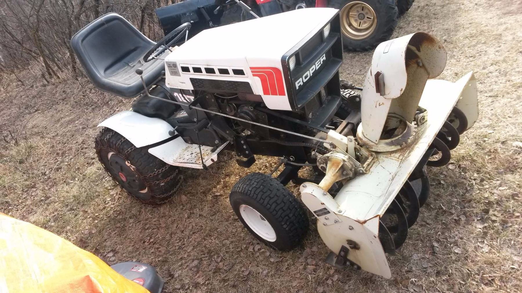 Roper 18t Riding Lawn Mower With Snow Blower Attachment