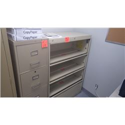 4 door metal lateral file cabinet w/4 drawer file cabinet