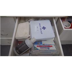 Drawer w/first aid supplies