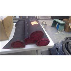 4 small rolls of neoprene runner