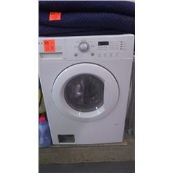 LG front load washer stainless steel drum with hamper and detergent
