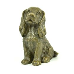 Vienna Bronze Miniature Cocker Spaniel Dog Animal edition Pet Trainer Bronze Sculpture