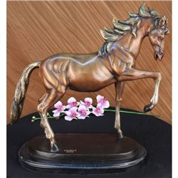 "25 LBS Bronze Racing Horse ""The Final Furlong"" (20""X26"")"