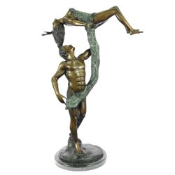 "25 LBS Ballerina Dancer Bronze Sculpture on marble base (27""X20"")"