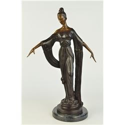"12 LBS 19 inches Tall High Fashion Model Designer Decor Bronze Sculpture (19""X11"")"