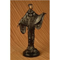 "12 LBS Museum Quality Hot Cast Fashion Model Bronze Sculpture (19""X11"")"