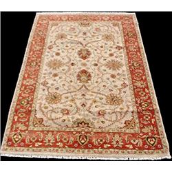 beautifully contrasted floral hand woven peshawar rug