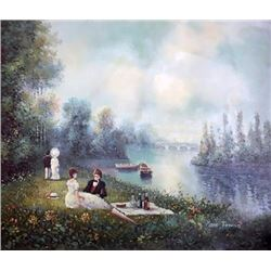 Tranquil impressionist painting