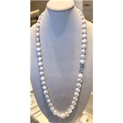 35 inch fresh water large coin pearl necklace