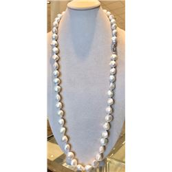 40 inch 52 large white baroque fresh water  necklace