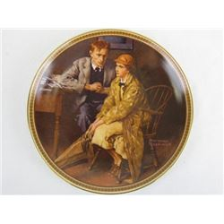 Collectible Limited Edition Confiding in the den by Norman Rockwell