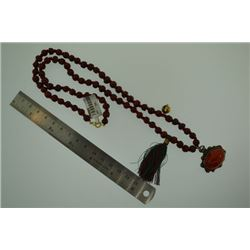 Enameling Aqeeq beads Necklace