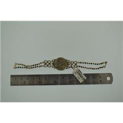Coin with smoky quart beads Handmade Bracelet