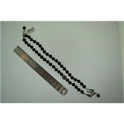 Black natural meditation handmade beads Bird Necklace