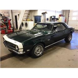 1:30 PM SATURDAY FEATURE! 1968 CHEVROLET CAMARO
