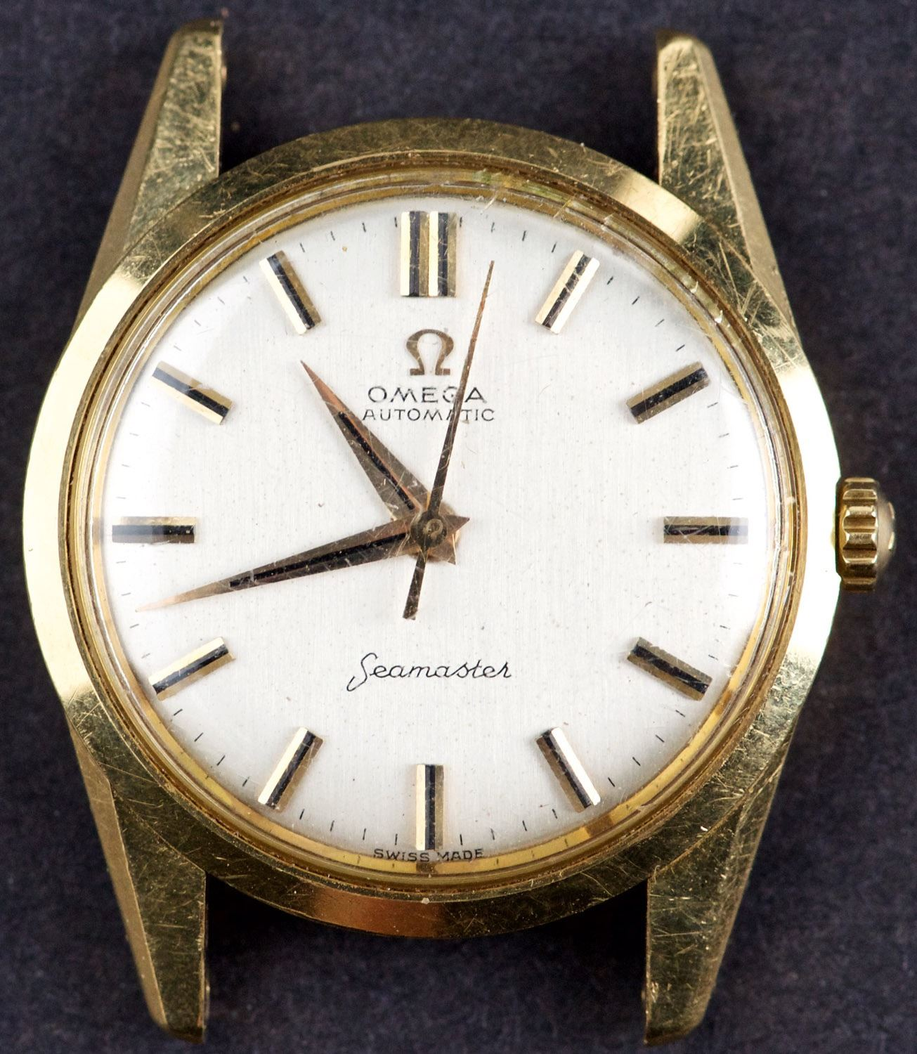 120a91a443 Image 1 : Vintage 18 Kt Gold Omega SEAMASTER Automatic Watch ...