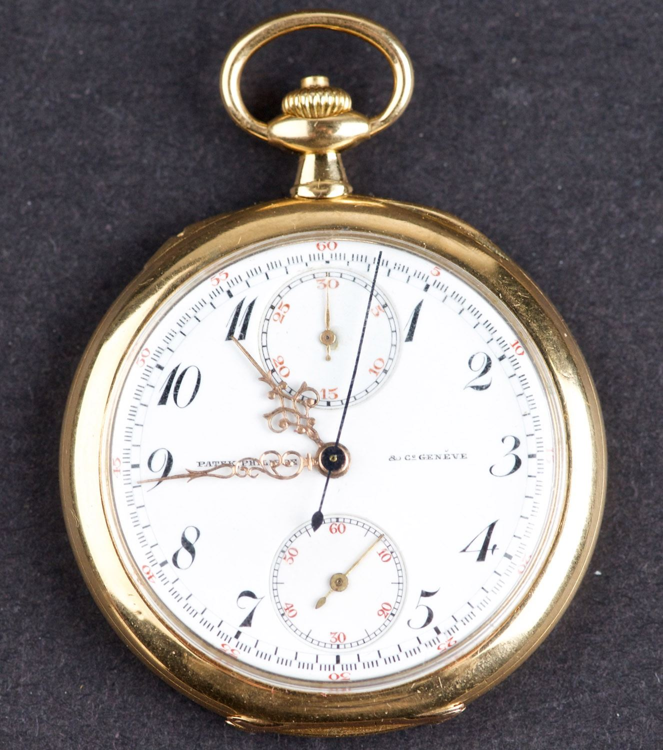 8311a9956cb Image 1   Antique 1905 Patek Philippe Chronograph Pocket Watch with 18 Kt  Gold Case ...