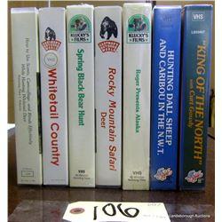 BOX LOT OF VARIOUS VHS'S