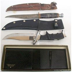 KNIVES, HATCHET AND WALLET