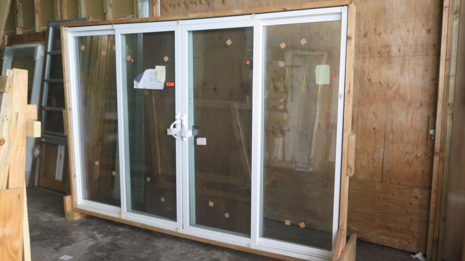 4 Panel Patio Sliding Glass Doors W Screen White Vinyl 117 13 16