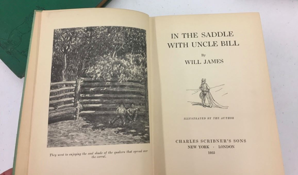 Group of 4 Old Will James Books
