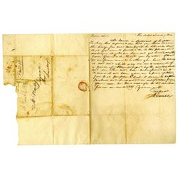 Letters Dated 1814 Includes Stampless Letter.