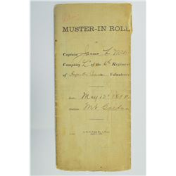 Spanish American War, 1898 Muster Roll.