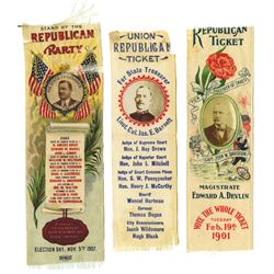 Union Republican Ticket Ribbons ca.1901-1907