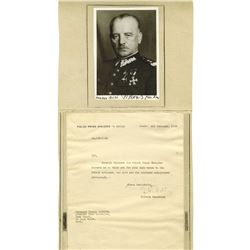 Autograph of General W_adys_aw Sikorski, ca.1943, Polish Prime Minister in Exile During WW II.