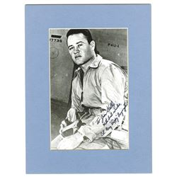 "Autograph of Col. Greg ""Pappy"" Boyington, WW II Hero and POW."
