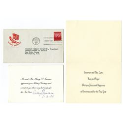 Letters From Presidents and Political Figures