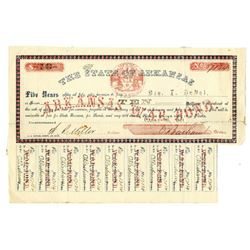 State of Arkansas, 1861 Confederate Issued Bond