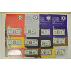 BEP  Federal Reserve $2 Set Fr.1937-A-L $2 2003 Federal Reserve Star notes.