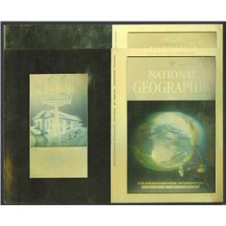 "ABNC, Unfolded Pair of Proof National Geographic Hologram Covers, ""Fragile Earth"" With Vintage Holog"