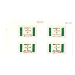 Jamaica Tax Stamp specimen sheet.