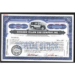 Chicago Yellow Cab Co., Inc. 1916 Specimen Stock Certificate.