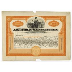 J.W. Murray Manufacturing Co., ca.1925-1930 Proof Stock Certificate.