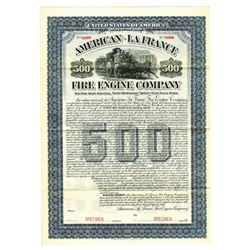 American-La France Fire Engine Co., 1904 Specimen Bond