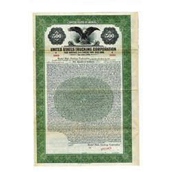 United States Trucking Corp., 1928 Specimen Bond