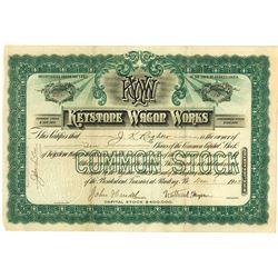 Keystone Wagon Works, 1903 Issued Stock Certificate