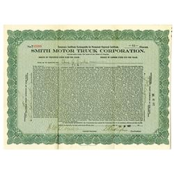 Smith Motor Truck Corp., 1917 Issued Stock Certificate
