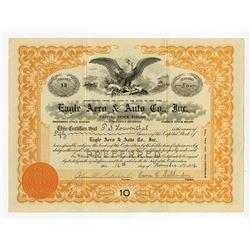 Eagle Aero & Auto Co., Inc., 1916 Stock Certificate.