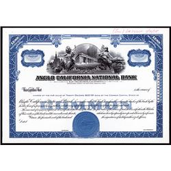 Anglo California National Bank, 1955 Proof Stock Certificate.