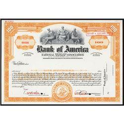 Bank of America National Trust and Savings Association Specimen Stock Certificate.